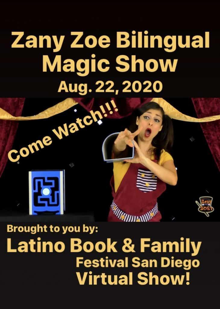Virtual Magicician Zany Zoe Public Event