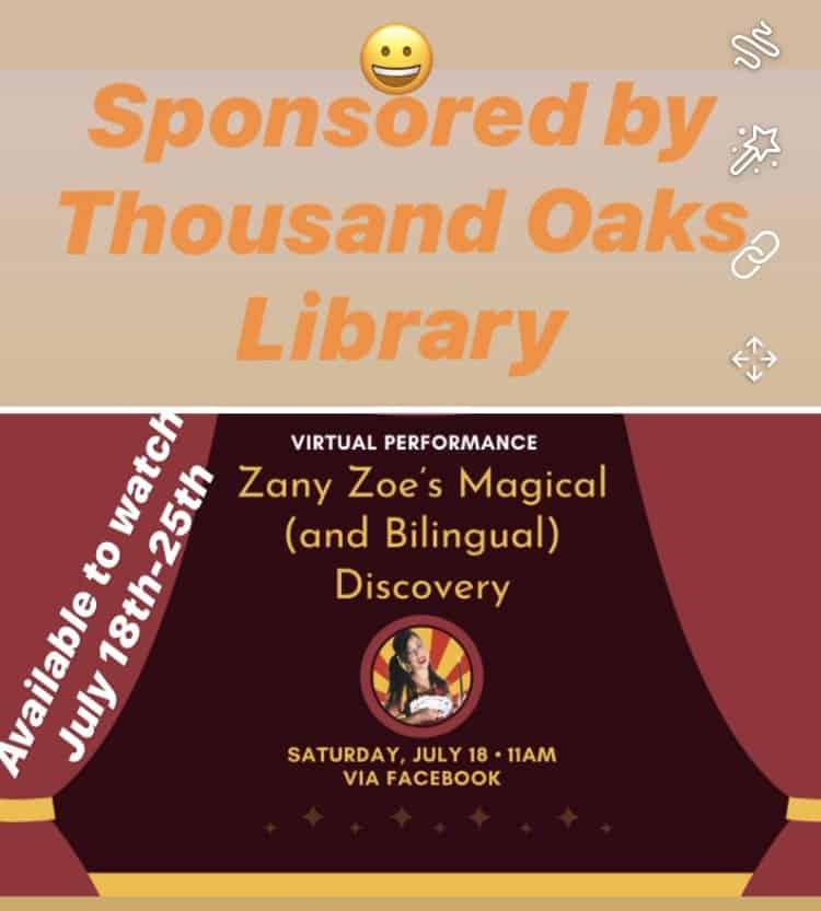 Virtual Show Zany Zoe Magician