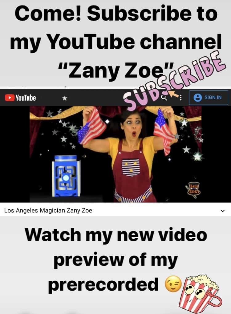 Zany Zoe Youtube Channel